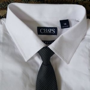 Chaps Boy's size 18 shirt/tie combo NWT